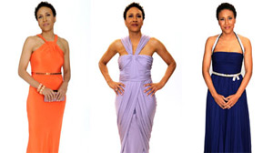 PHOTO Robin Roberts Models designer gowns for Good Morning America