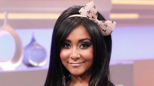 "PHOTO: Nicole ""Snooki"" Polizzi talks about the new season of ""Jersey Shore,"" on Good Morning America, Aug. 10, 2011."