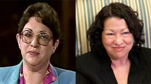 Sonia Sotomayor: Then and Now