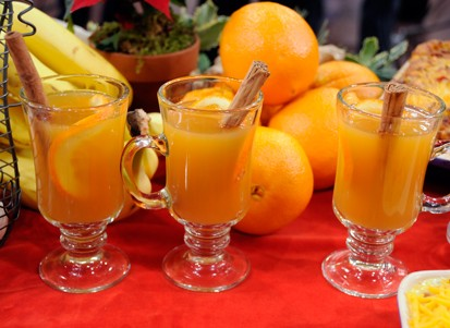 PHOTO What better way to warm up than with a cup of hot tea. Emerils spiced orange tea will warm you right up.