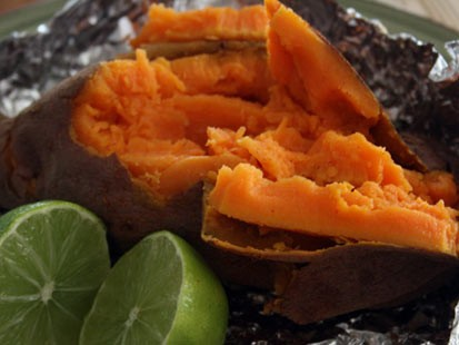 PHOTO:Stephanie ODea prepared simply delicious sweet potatoes for Good Morning America.