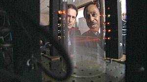 PHOTO Physicist Ronald Mallett shows ABC?s John Berman his time machine.