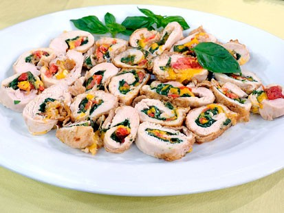 Tomato and Spinach-Stuffed Chicken Roulade