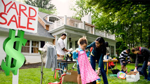 Bring in extra cash and unclutter you home by having a garage sale