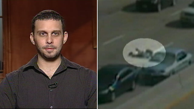 PHOTO: Texas man Zacharie Perez survived a motorcycle crash caught on tape on a Dallas tollway.