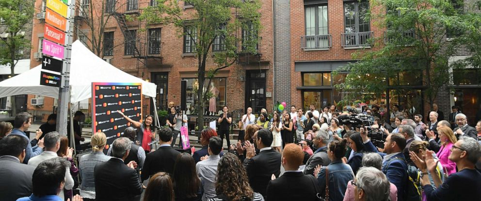 PHOTO: NYC Commission on Human Rights and Mastercard Host #AcceptanceMatters Panel and Unveil Acceptance Street During WorldPride 2019, June 17, 2019, in New York.