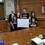 The Hawthorn family of Hot Springs, Arkansas, officially grew by 7 children with the adoption of Dawson, 15, Kyndal, 11, Lacey, 10, Layna, 10, Addiley, 9, Arria, 9 and Nixson, 8.