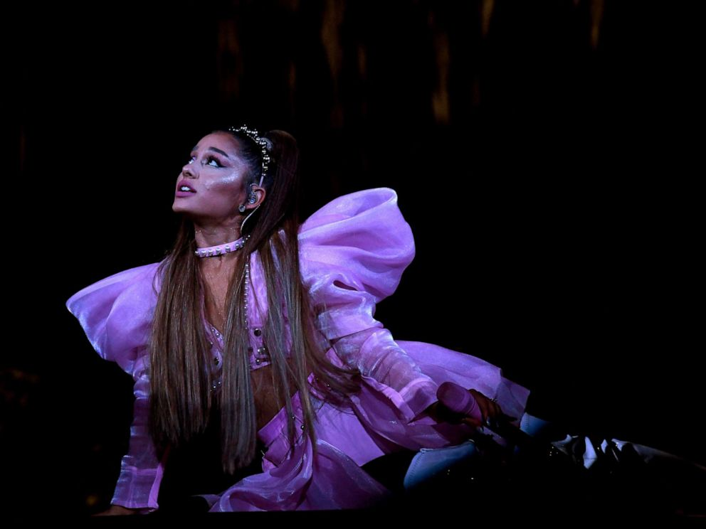 PHOTO: Ariana Grande performs onstage during Ariana Grande Sweetener World Tour at Staples Center on May 07, 2019, in Los Angeles.