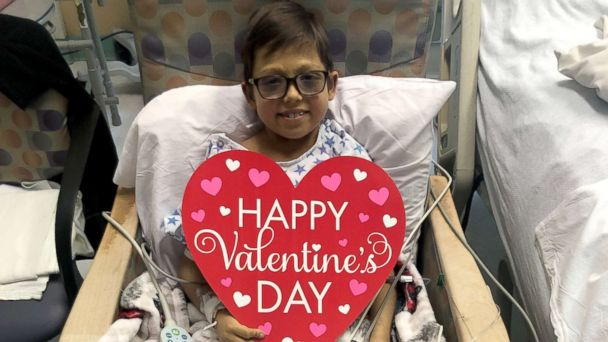 Hospital heart patients wish everyone a Happy Valentine's Day