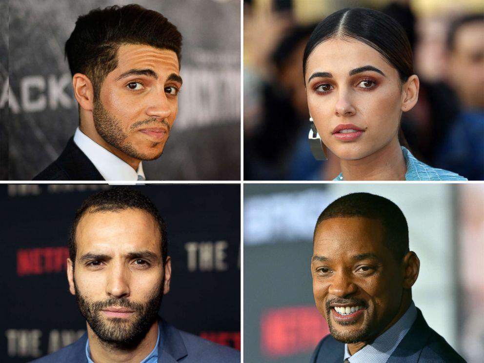 "Mena Massoud, Naomi Scott, Marwan Kenzari and Will Smith star in the 2019 Disney film, ""Aladdin."""