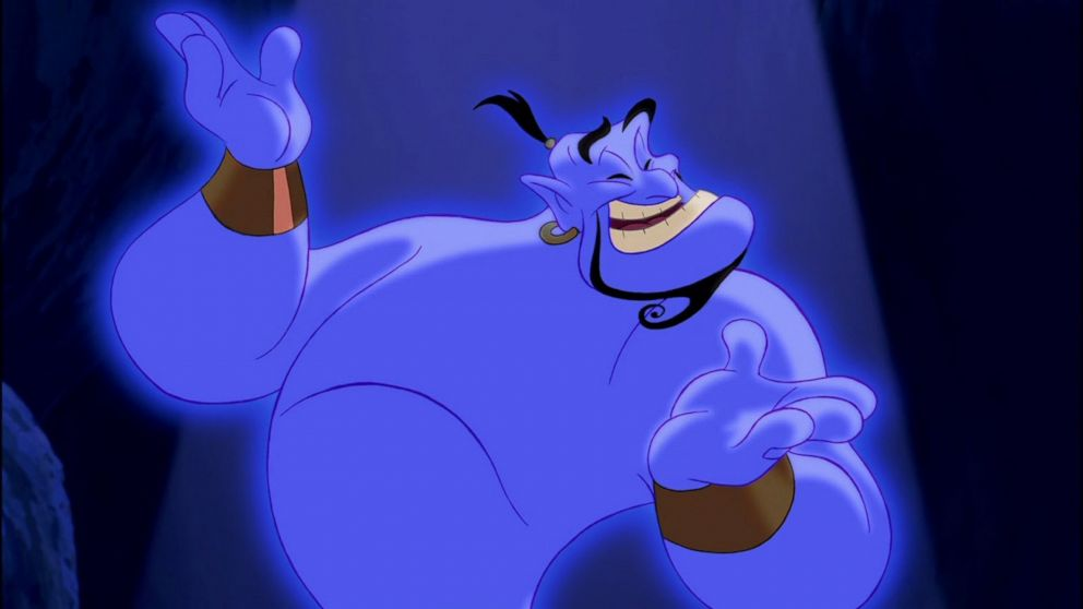 PHOTO: The Genie appears in Disneys 1992 animated movie Aladdin.
