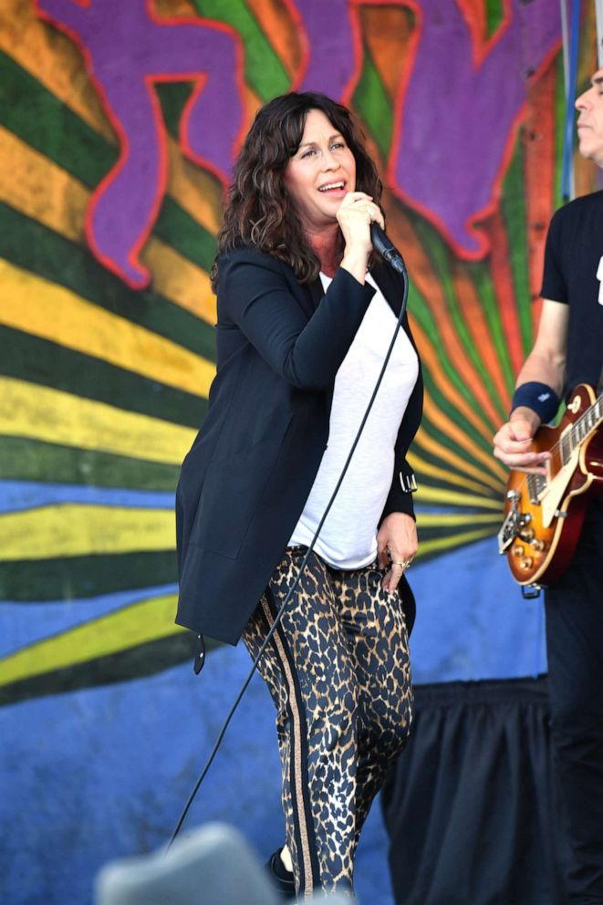 PHOTO: Alanis Morissette performs during the New Orleans Jazz and Heritage Festival 2019 50th Anniversary on April 25, 2019, in New Orleans, Louisiana.