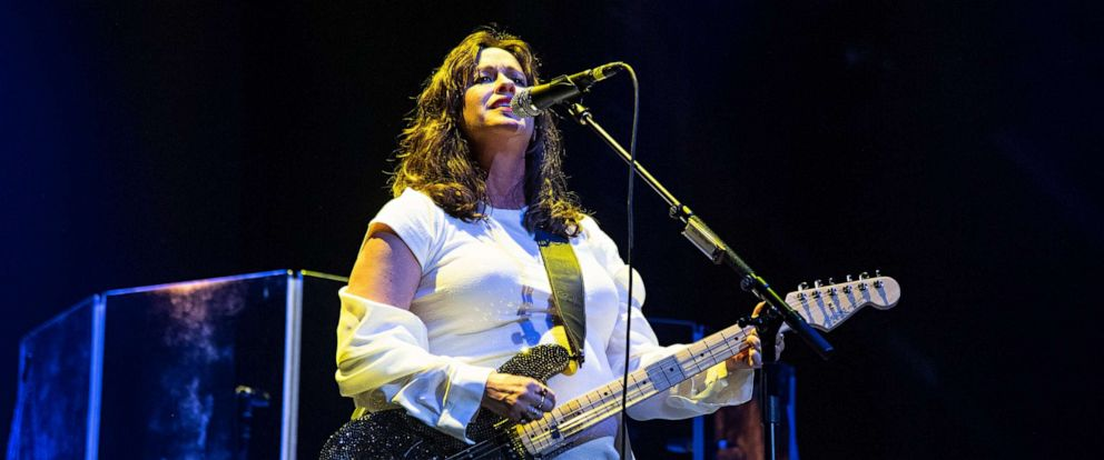 PHOTO: Alanis Morissette performs at KAABOO Texas at AT&T Stadium on May 10, 2019, in Arlington, Texas.