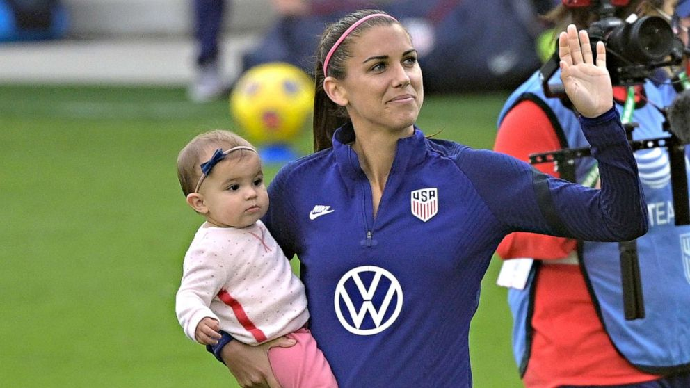Alex Morgan scores 1st goal for USWNT since becoming a mom
