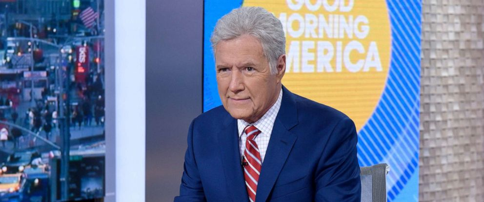 "PHOTO: Alex Trebek appears on ""Good Morning America,"" May 1, 2019."