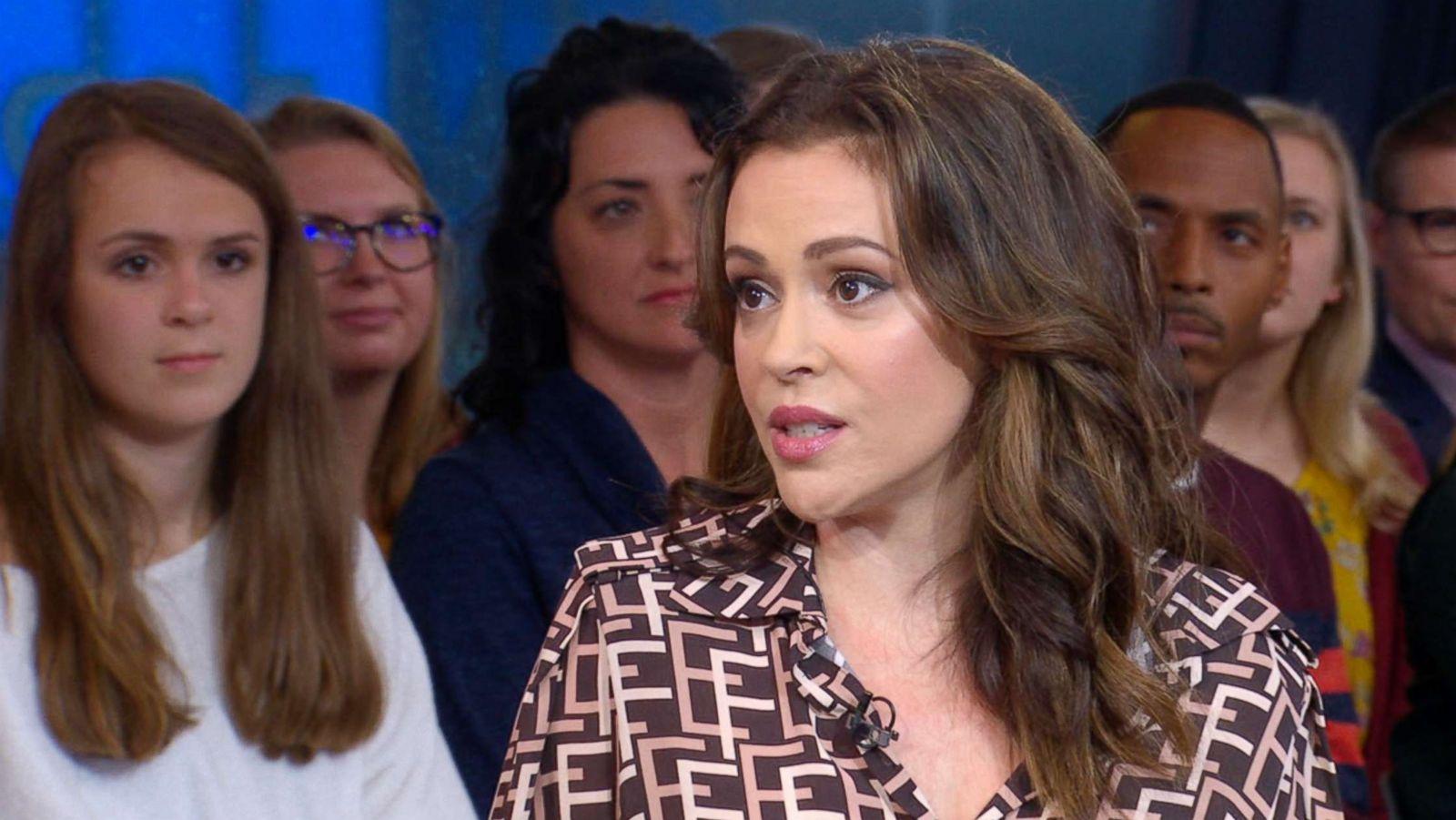 Alyssa Milano Movie Clips alyssa milano: trump's claim of a 'scary time for young men