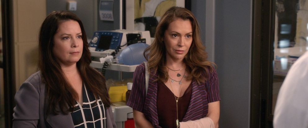 PHOTO: In an episode of Greys Anatomy, Holly Marie Combs and Alyssa Milano co-star.