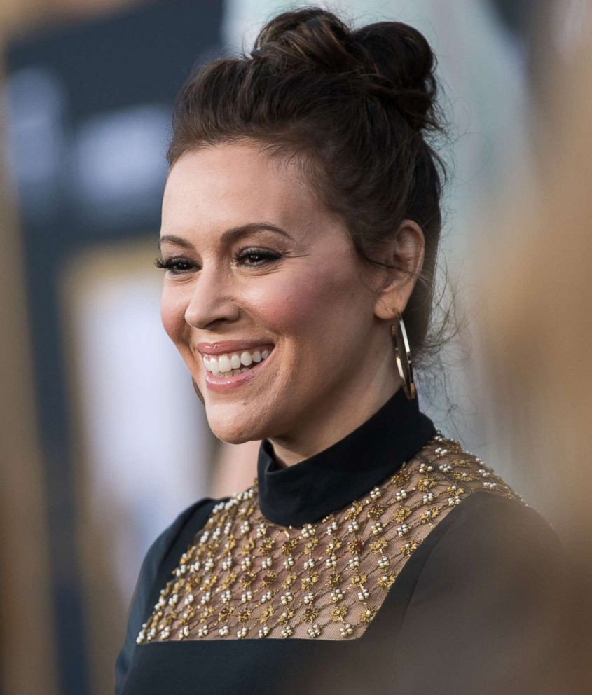 PHOTO: Alyssa Milano attends the premiere of Warner Bros. Pictures A Star Is Born at The Shrine Auditorium, Sept. 24, 2018, in Los Angeles.
