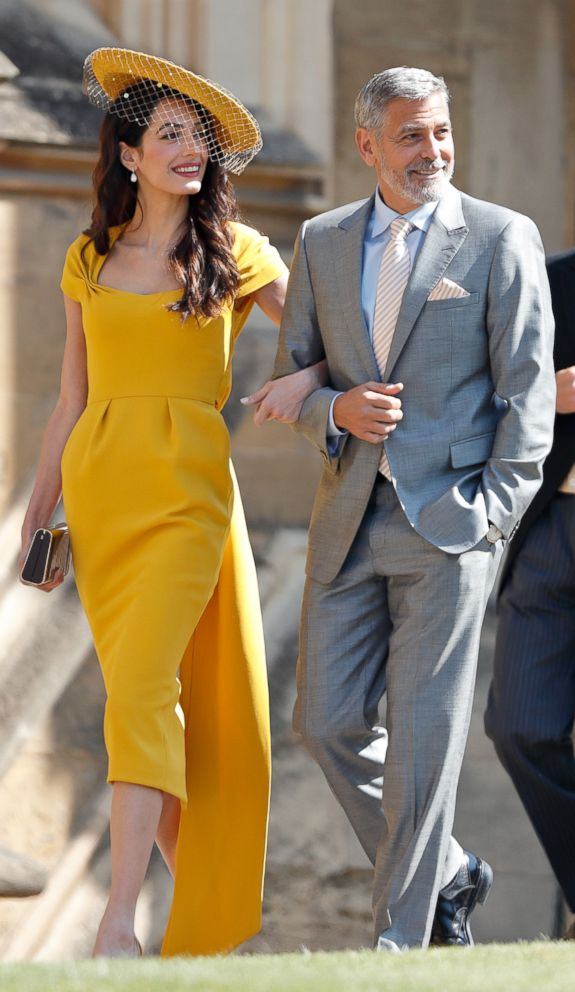 PHOTO: Amal Clooney and George Clooney attend the wedding of Prince Harry to Meghan Markle at St Georges Chapel, Windsor Castle, May 19, 2018, in Windsor, England.