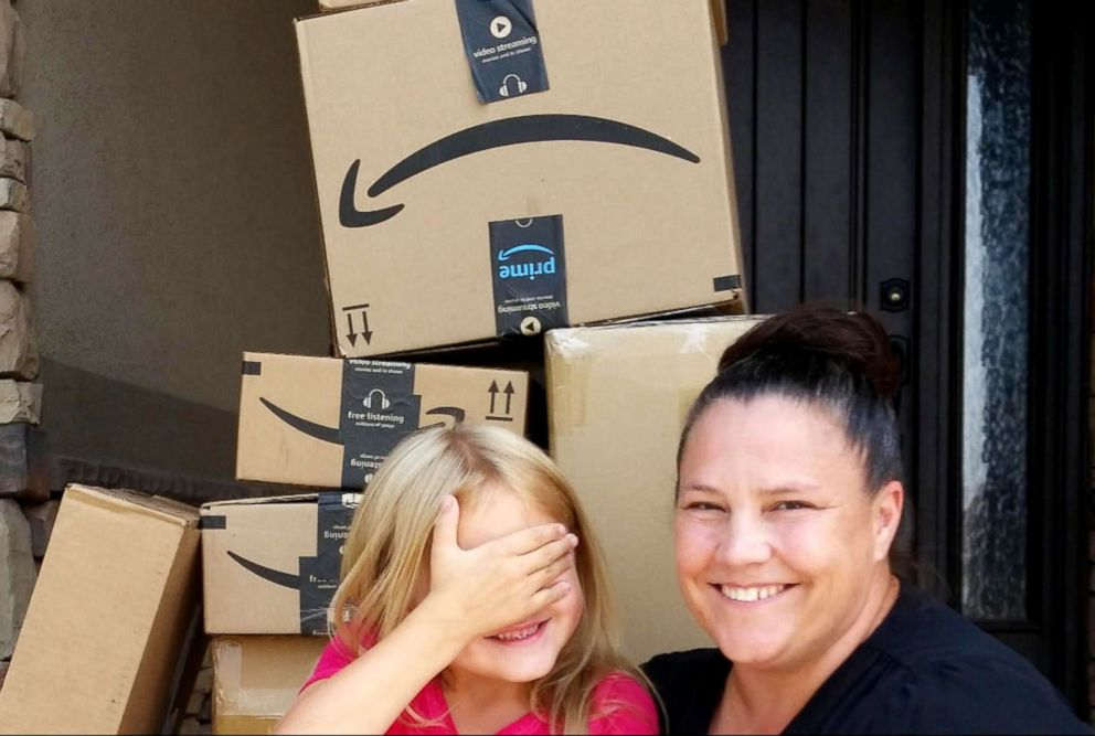 Katelyn Lunt, 6, ordered $350 worth of toys on Amazon.