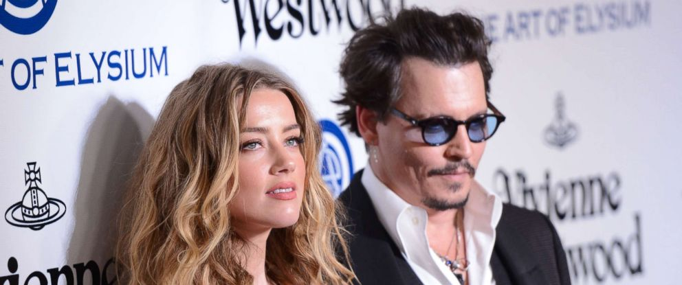 PHOTO: Amber Heard and Johnny Depp attend the Art of Elysium 2016 HEAVEN Gala in this Jan. 9, 2016 file photo in Culver City, Calif.
