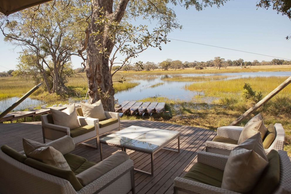 PHOTO: Common Area at andBeyond Xaranna Okavango Delta Camp in Botswana