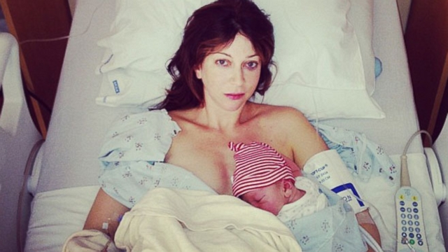 Ruth Iorio documented her labor and sons birth on social media with Tweets and Instagram photos.