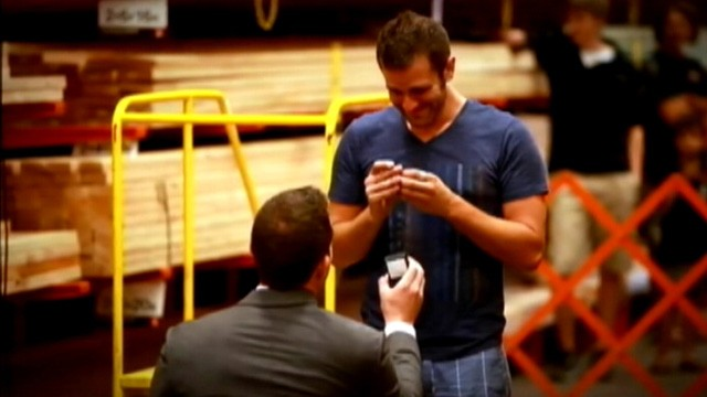 VIDEO: A Salt Lake City man's trip to Home Depot resulted in a marriage proposal by way of a flash mob.