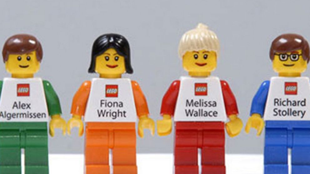 Lego Mini Figurines Serve as Business Cards Video - ABC News