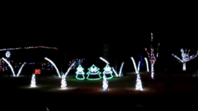 jay perkins of tulsa okla set his christmas light display to ylvis - Christmas Lights Tulsa