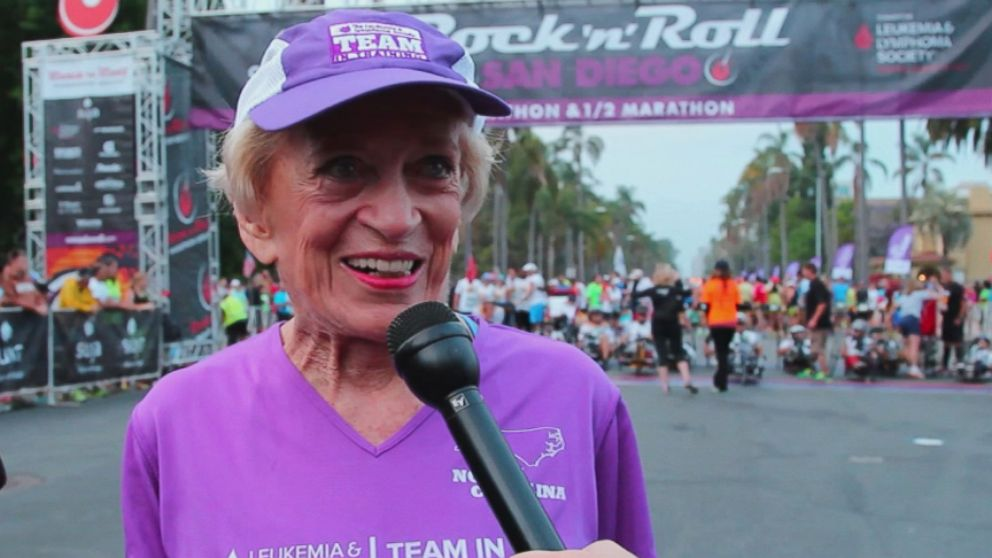 Harriet Thompson finished the 26.2-mile course in seven hours, seven minutes and 42 seconds.