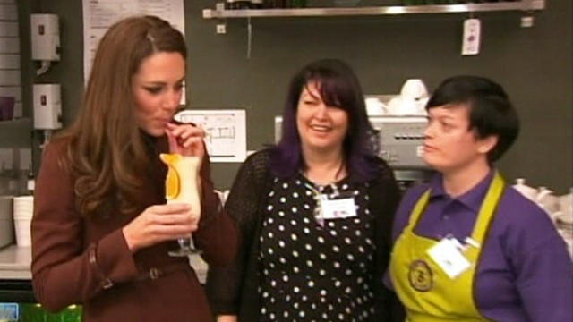 VIDEO: Duchess of Cambridge visited Liverpool charity that helps recovering alcoholics.