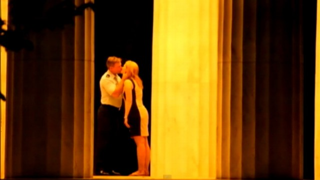 VIDEO: Woman snapped pictures of engagement inside Washington War Memorials rotunda.