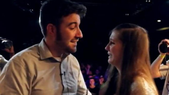 VIDEO: Adam Felman asked his girlfriend to marry him in the middle of a rap battle in the U.K.