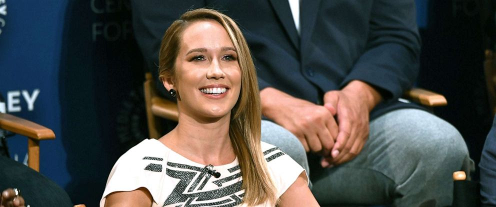 "PHOTO: Anna Camp is shown at the ""Perfect Harmony"" panel at 2019 Paleyfest, Sept. 5, 2019, in Los Angeles."