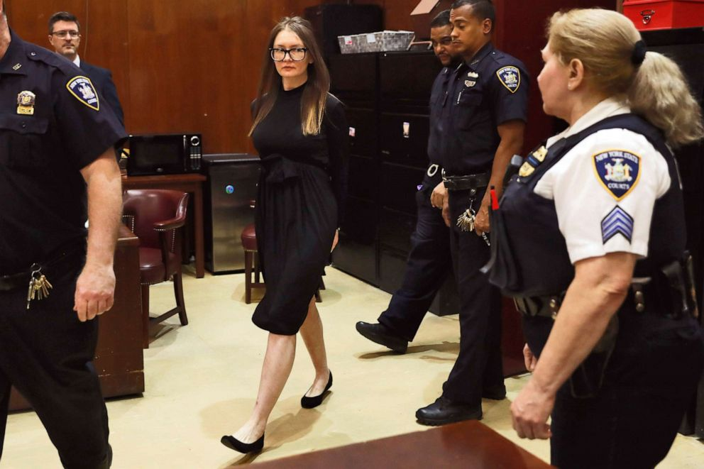 PHOTO: Anna Sorokin arrives for sentencing at New York State Supreme Court, in New York, May 9, 2019.