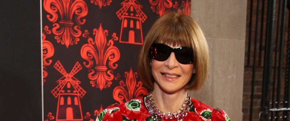 "PHOTO: Anna Wintour attends the Broadway Opening Night performance of ""Moulin Rouge! The Musical"" at the Al Hirschfeld Theatre on July 25,2019, in New York."