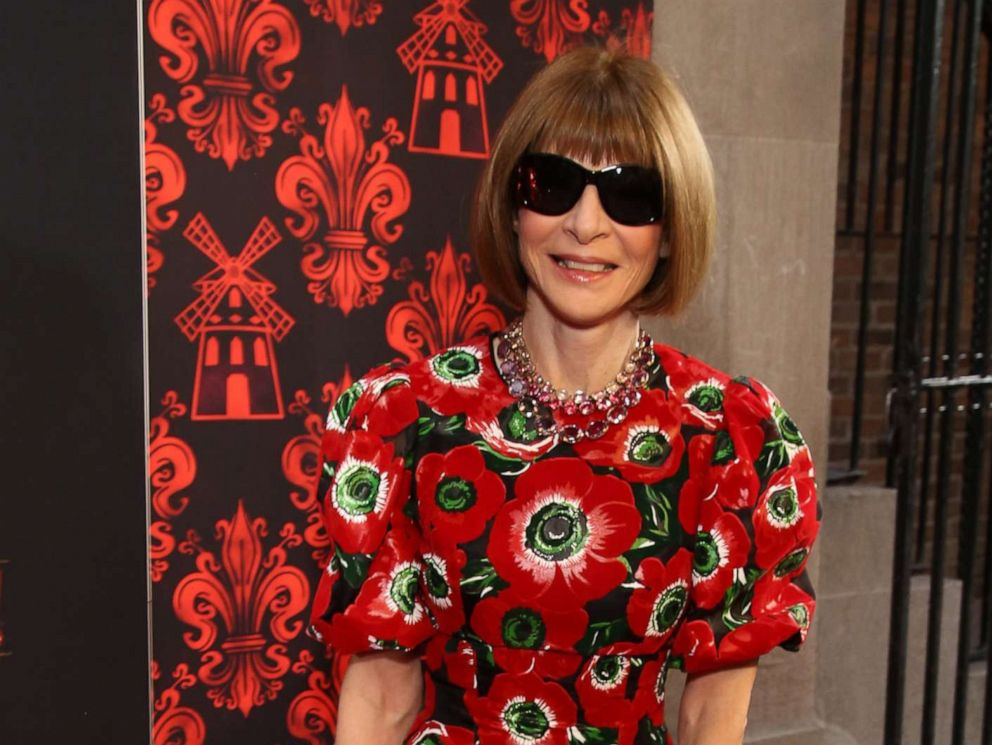 PHOTO: Anna Wintour attends the Broadway Opening Night performance of Moulin Rouge! The Musical at the Al Hirschfeld Theatre on July 25,2019, in New York.