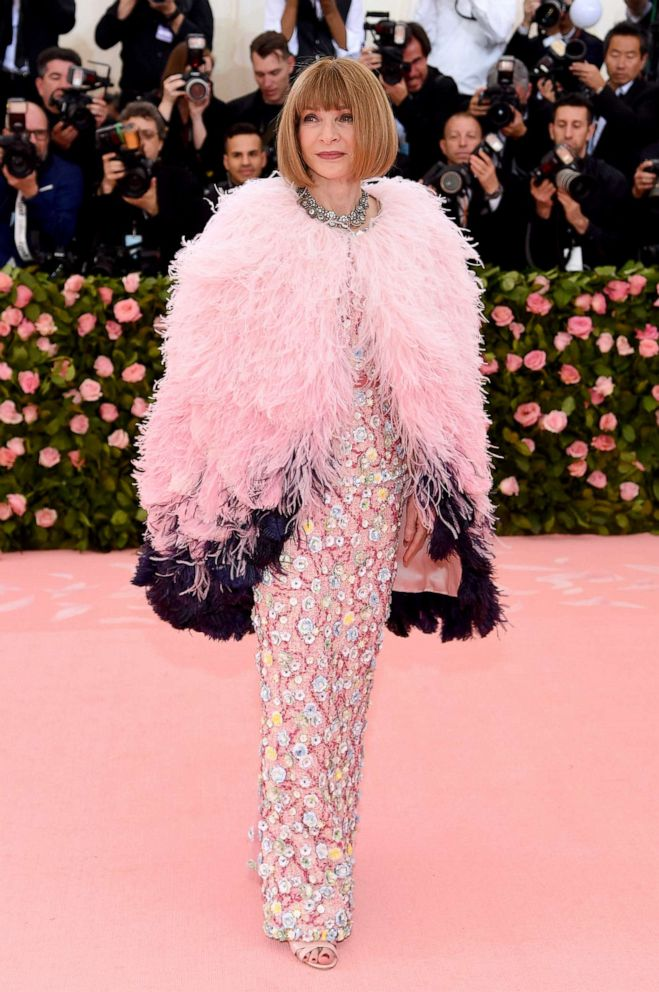 PHOTO: Anna Wintour attends The 2019 Met Gala Celebrating Camp: Notes on Fashionat Metropolitan Museum of Art, May 6, 2019, in New York City.