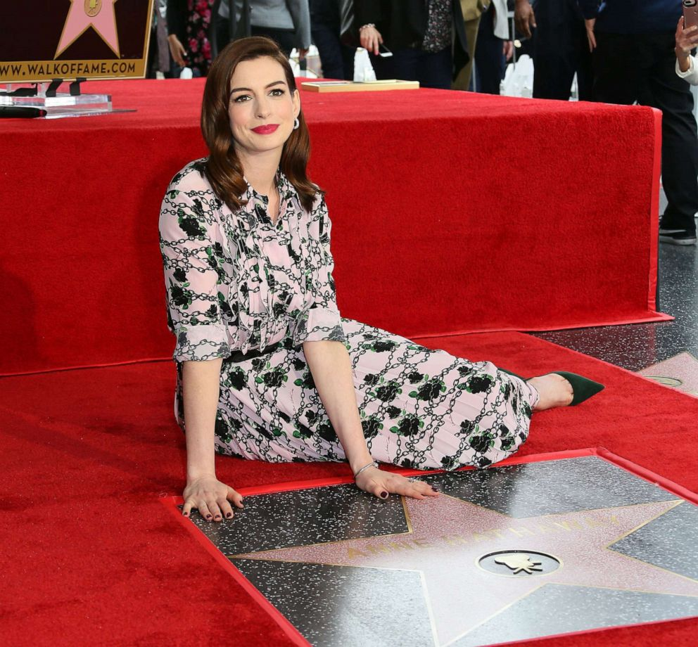 Anne Hathaway Ziegfeld Theatre: Anne Hathaway Uses Her Walk Of Fame Speech To Highlight