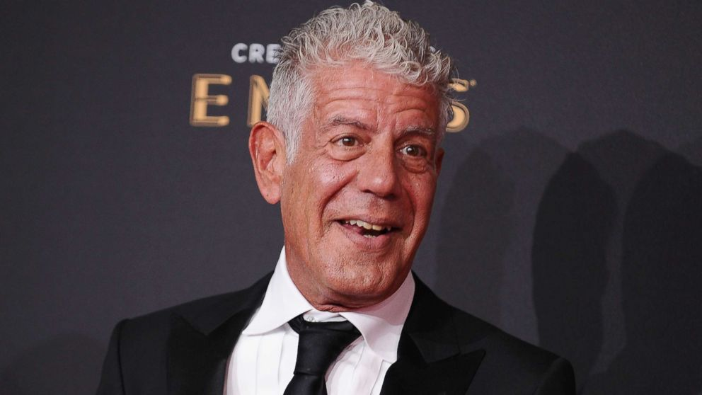 Anthony Bourdain attends an event in Los Angeles, Sept. 9, 2017.