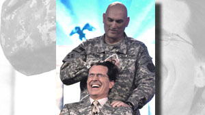 Stephen Colbert gets military haircut