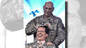 Stephen Colbert gets military haircut