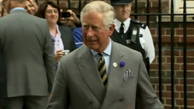VIDEO: The Prince of Wales comments after meeting his grandson for the first time.