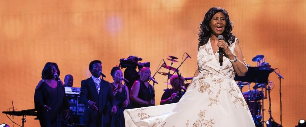 "In this April 19, 2017 file photo, Aretha Franklin performs at the world premiere of ""Clive Davis: The Soundtrack of Our Lives"" at Radio City Music Hall, during the 2017 Tribeca Film Festival in New York City."