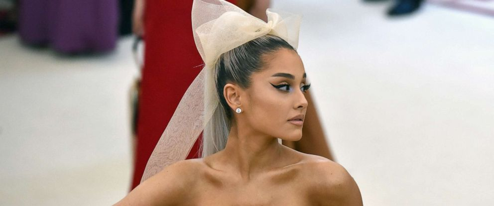 PHOTO: Ariana Grande attends the Heavenly Bodies: Fashion & The Catholic Imagination Costume Institute Gala at The Metropolitan Museum of Art, May 7, 2018 in N.Y.