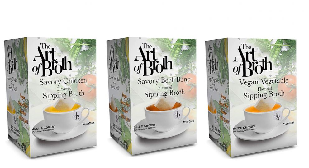 PHOTO: The Art of Broth products are pictured here.
