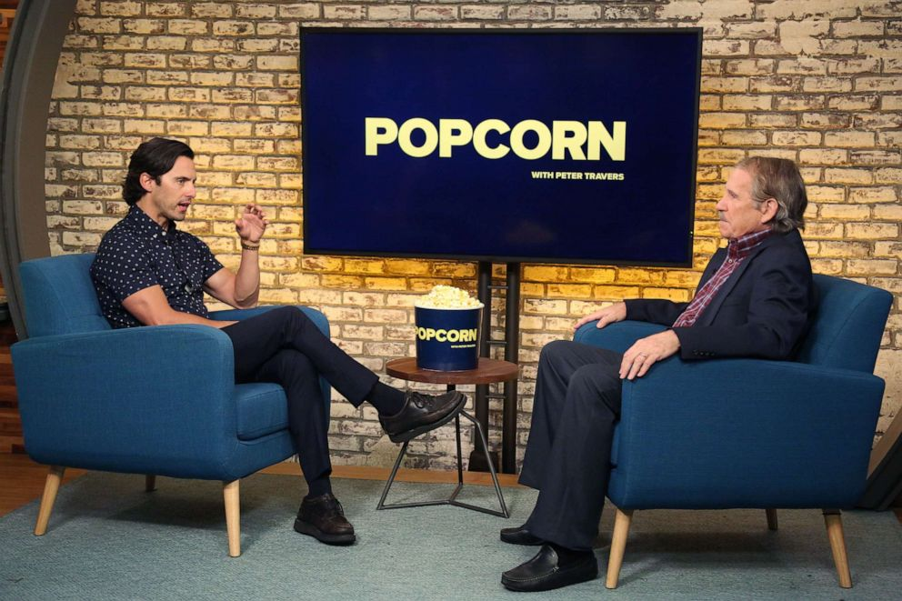 PHOTO: Milo Ventimiglia appears on Popcorn with Peter Travers at ABC News studios, August 6, 2019, in New York.