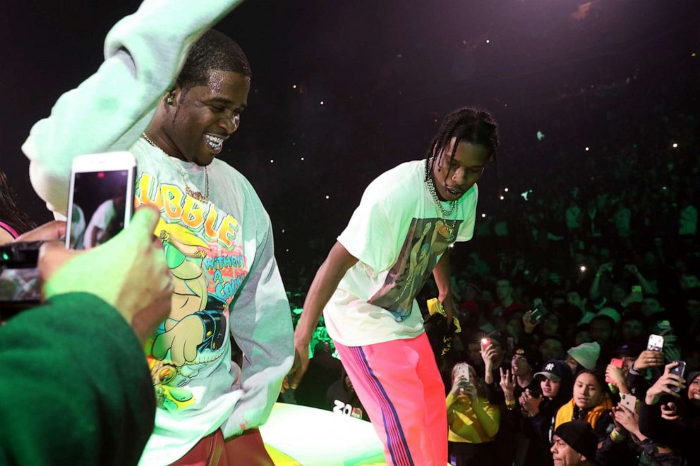 PHOTO: A$AP Ferg (L) and A$AP Rocky perform at A$AP Mob Yams Day 2019 at Barclays Center on January 17, 2019, in New York.