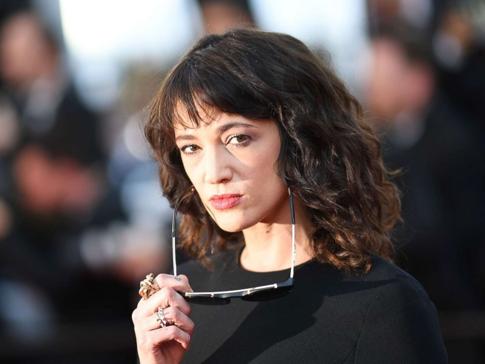 PHOTO: Asia Argento poses as she arrives for the closing ceremony and the screening of the film The Man Who Killed Don Quixote at the 71st edition of the Cannes Film Festival in Cannes, southern France, May 19, 2018.